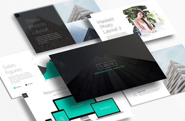 slimline Best Keynote Template For Presentation