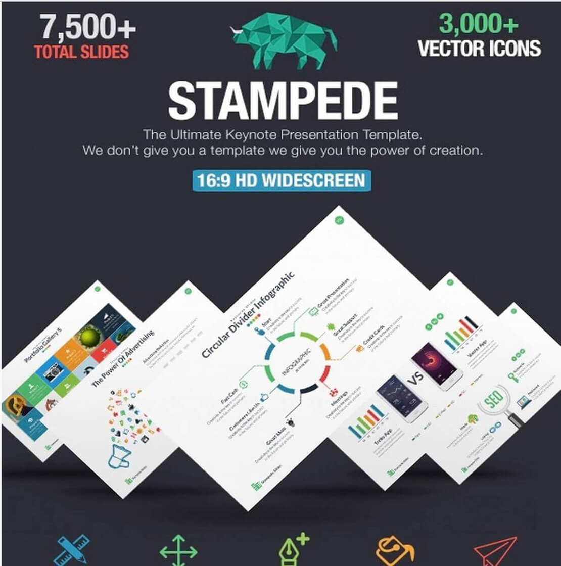 stampede Best Keynote Template For Presentation