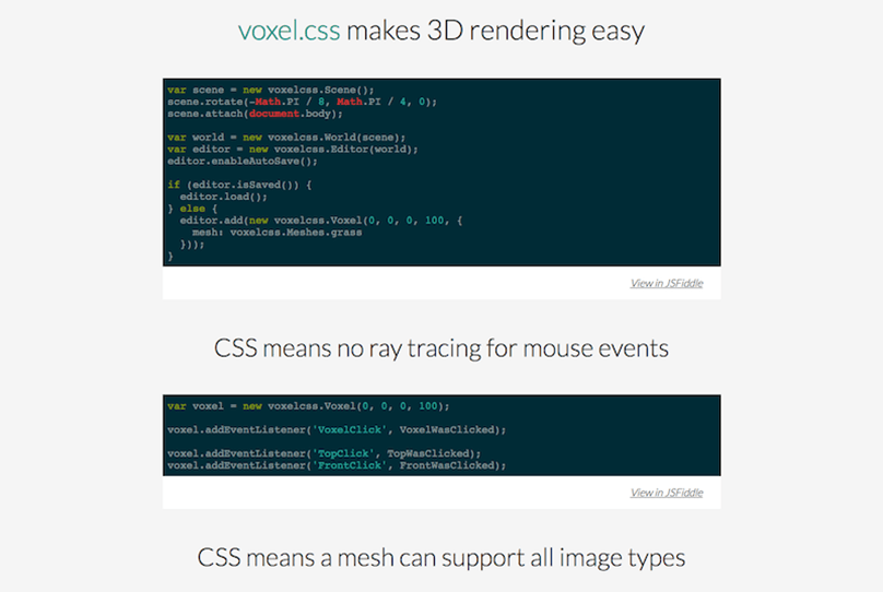 voxel.css Library and Framework Tool
