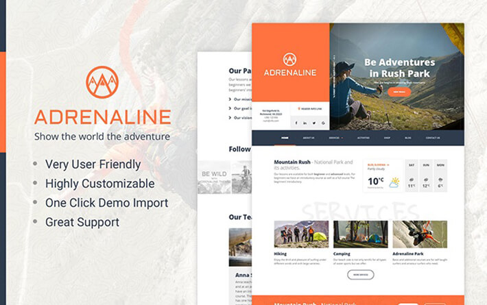 Adventure Outdoor WordPress