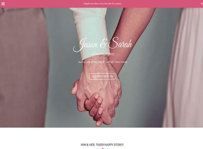 Amor Wedding Website Template