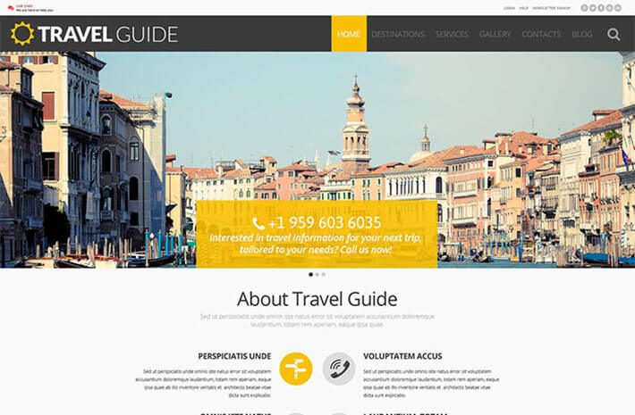 Blog Responsive Travel