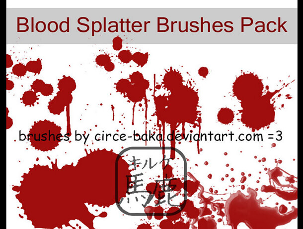 Blood Splatter Brush Best Free