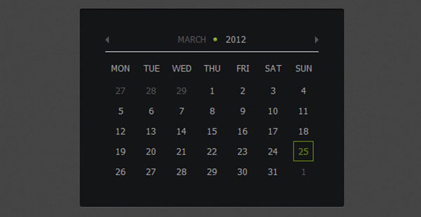 Calendar Animation Technique