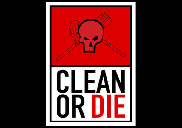Clean or Die SVG Animation