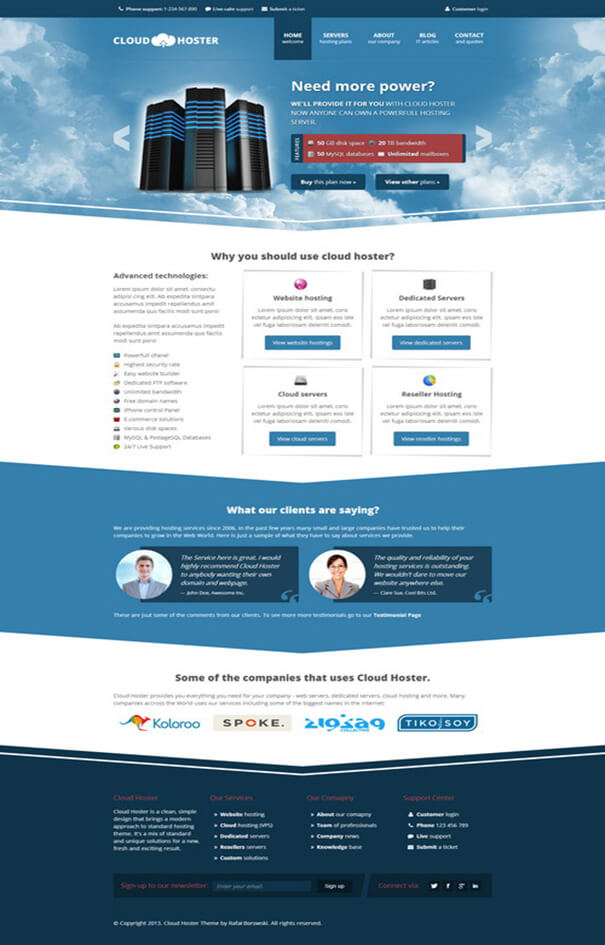 Cloud Modern Best Responsive