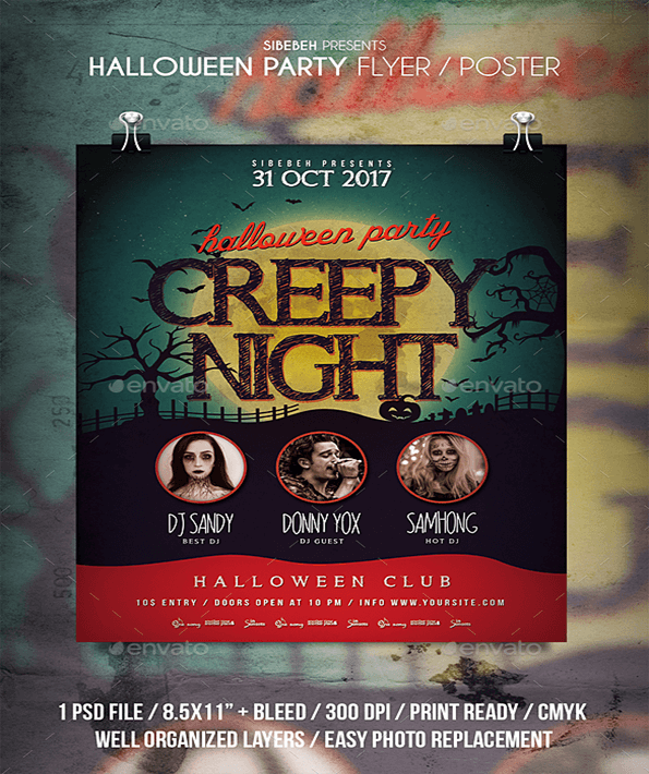 Creepy Night Beautiful Invitation Flyer