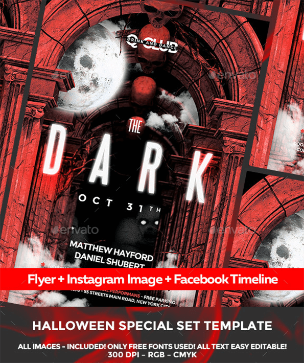 Dark Beautiful Invitation Flyer