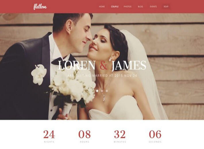 FlatLove Best HTML Wedding