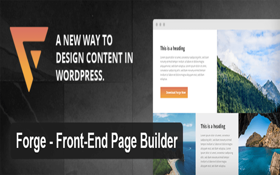 Forge Page Builder