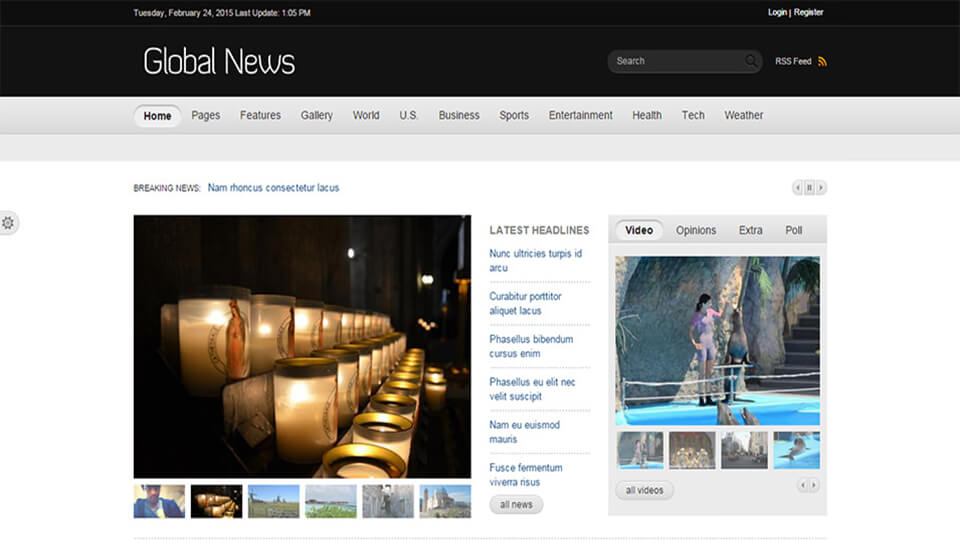 Global News Responsive Template