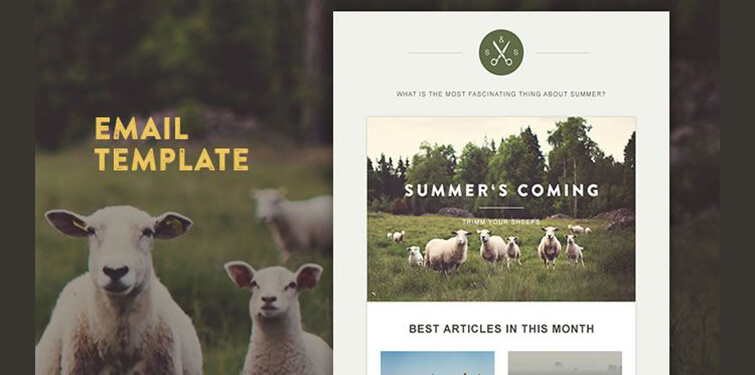 Goat Newsletter Template