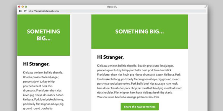 Green Newsletter Template