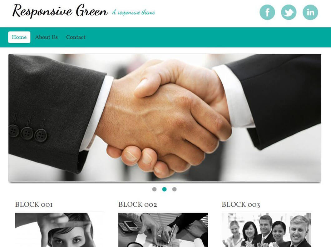 Green Responsive Drupal Template