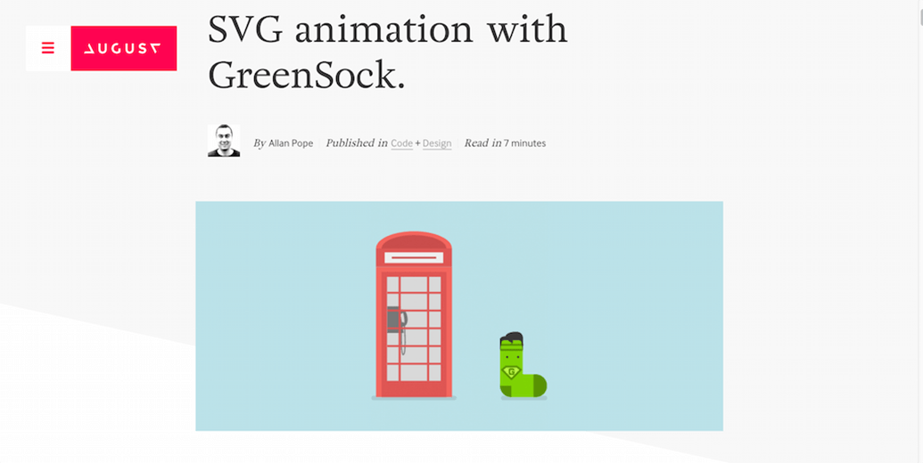 Greenstock SVG Animation Example