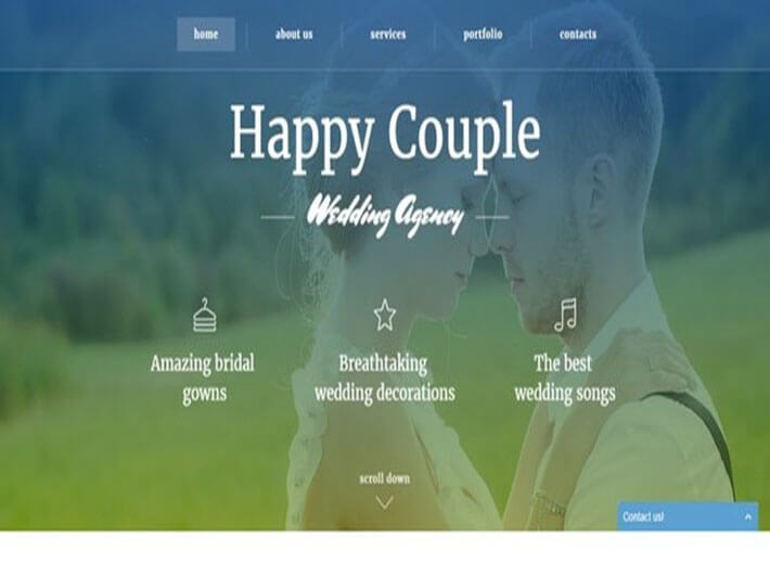 Happy Couple Best HTML Wedding