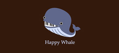 Happy Whale Logo