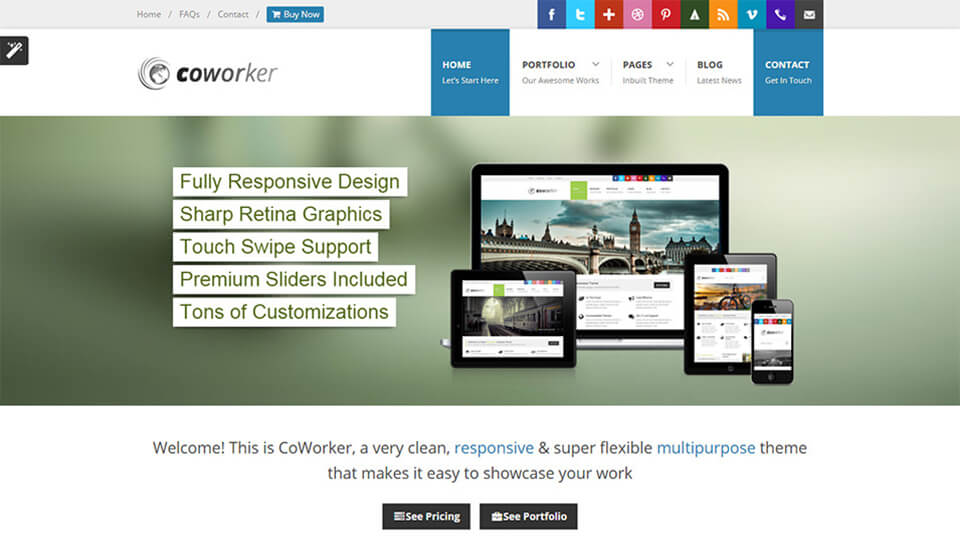 Home Coworker Drupal Template