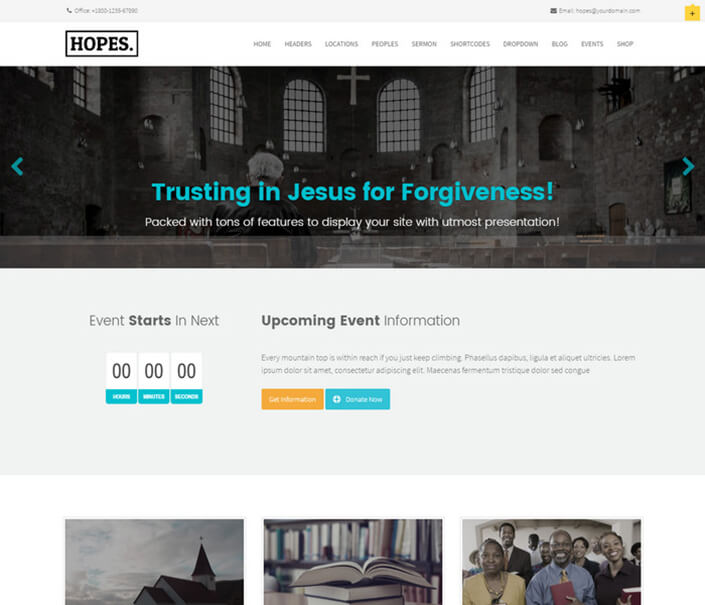 Hopes Church WordPress