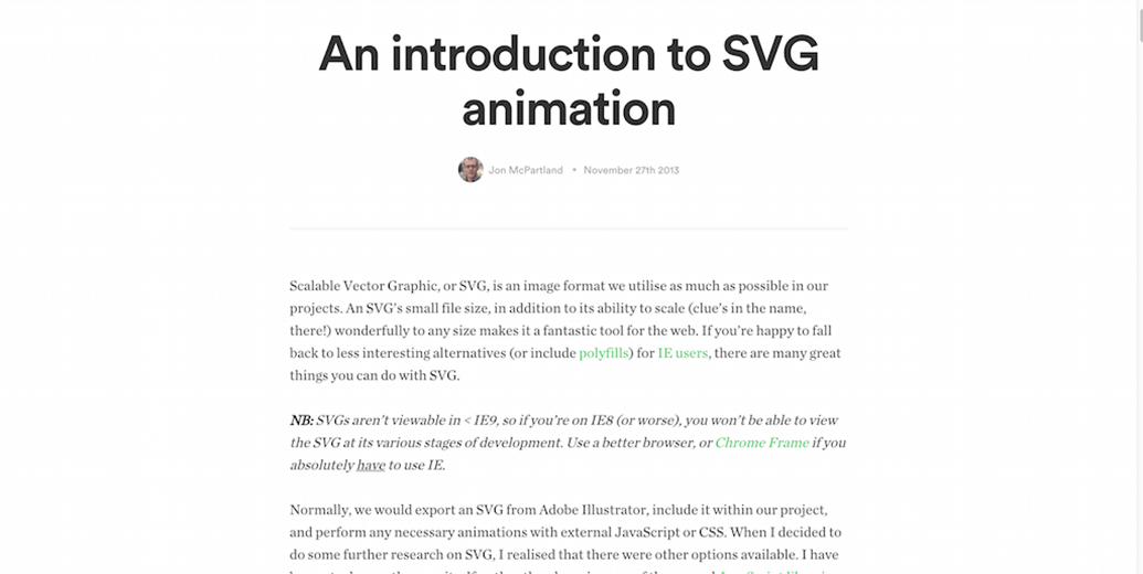 Intro SVG Animation