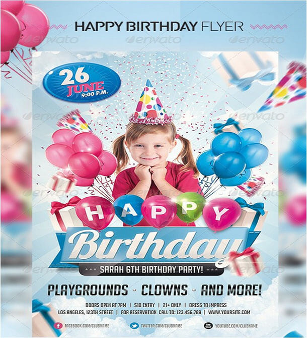 Kids Birthday Beautiful Invitation