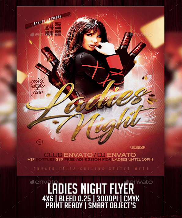 Ladies Night Beautiful Invitation Flyer