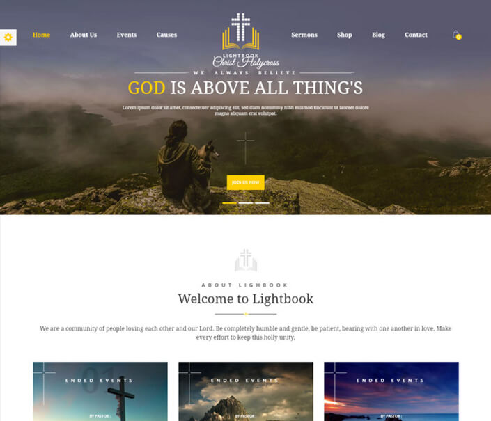 LightBook Church WordPress