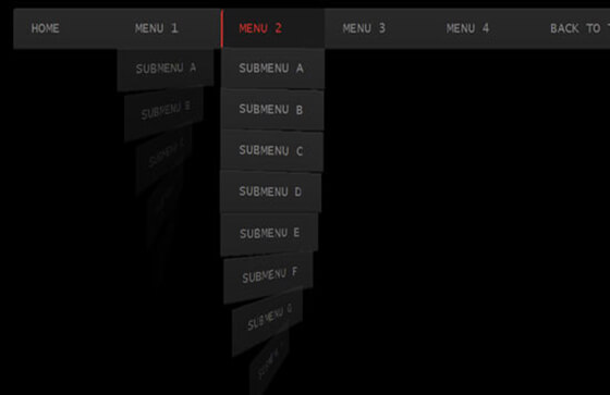 Menu HTML5 CSS3 Dropdown