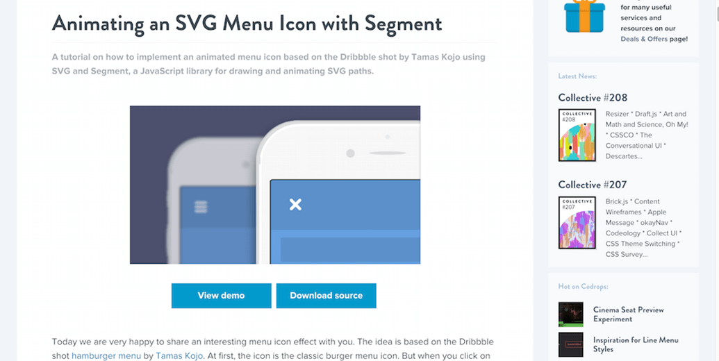 Mobile SVG Animation
