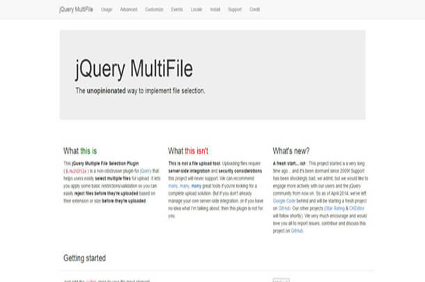 Multi File Free jQuery