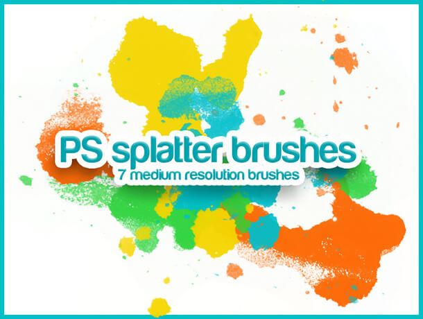 PS Splatter Splatter Watercolor
