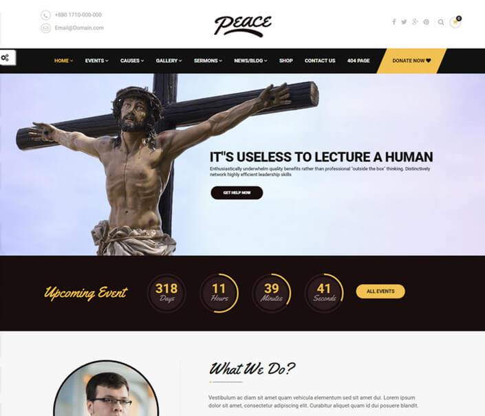 Peace Church WordPress Theme