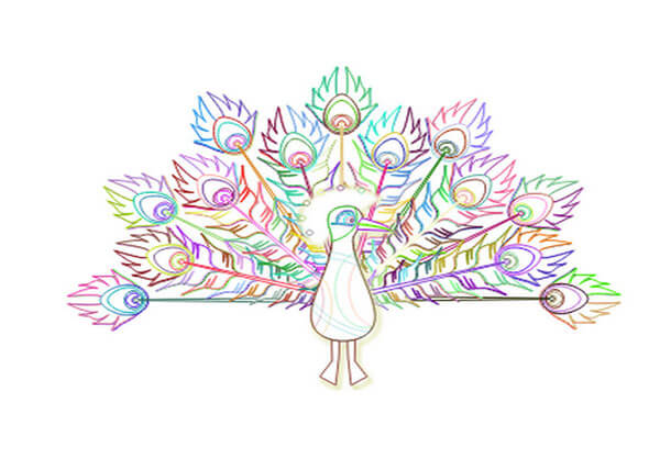 Peacock Unique SVG Animation