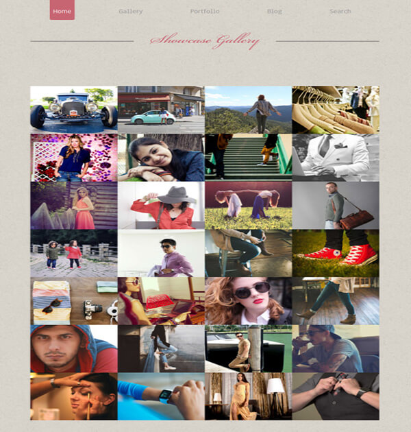 Photographer Showcase Responsive HTML5