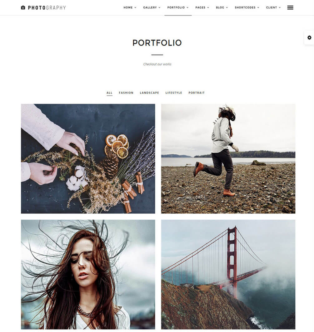 Photography Portfolio Best Responsive