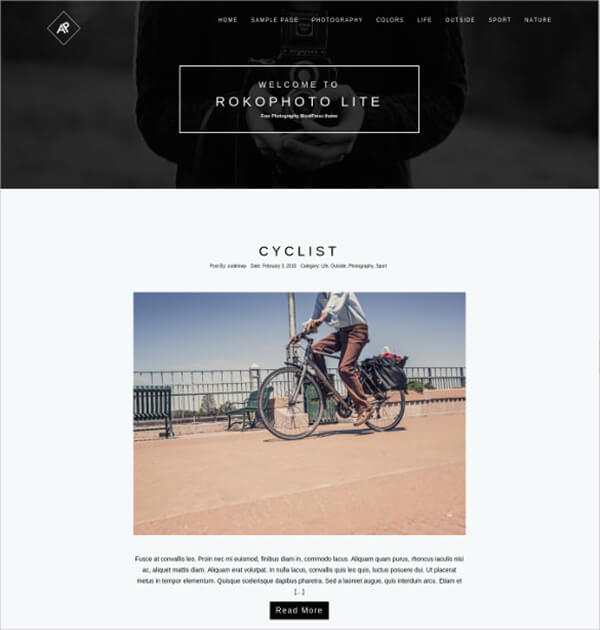 Photography WordPress Responsive HTML5