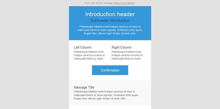 Plain Newsletter Template