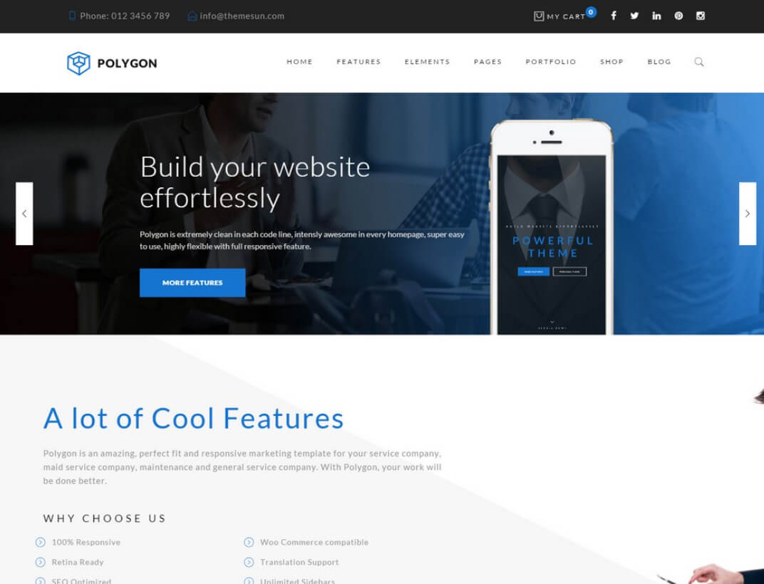 Polygon WordPress Theme