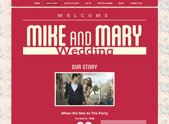 Retro HTML Wedding