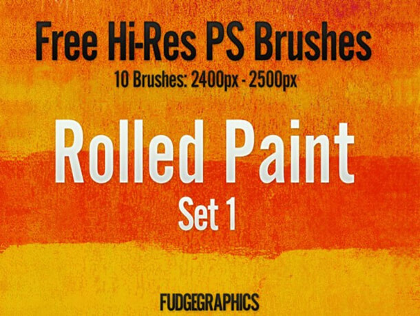 Rolled Photoshop Brush