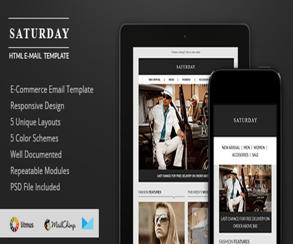 Saturday Best Responsive HTML