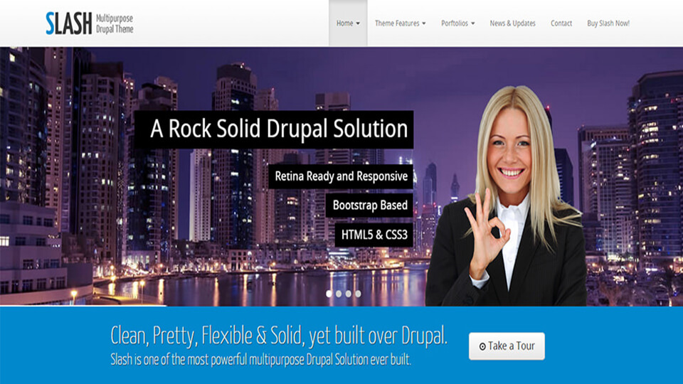 Slash Retina Drupal Template