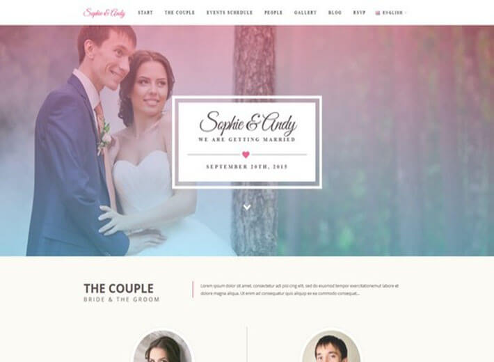 Soulmate Template HTML Wedding Website
