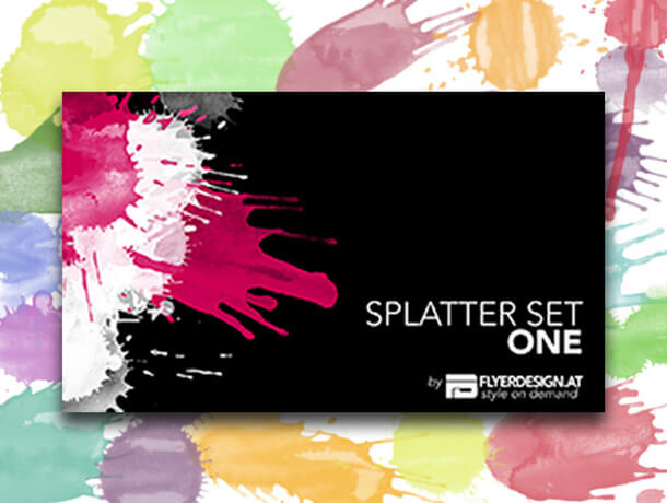 Splash Splatter Watercolor