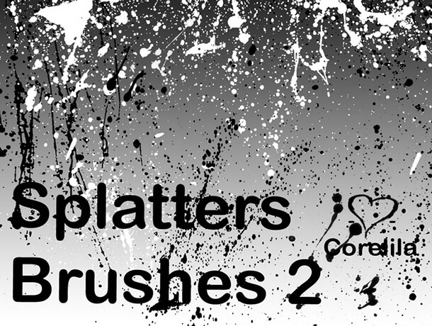 Splaty Brushes Free Splatter Watercolor