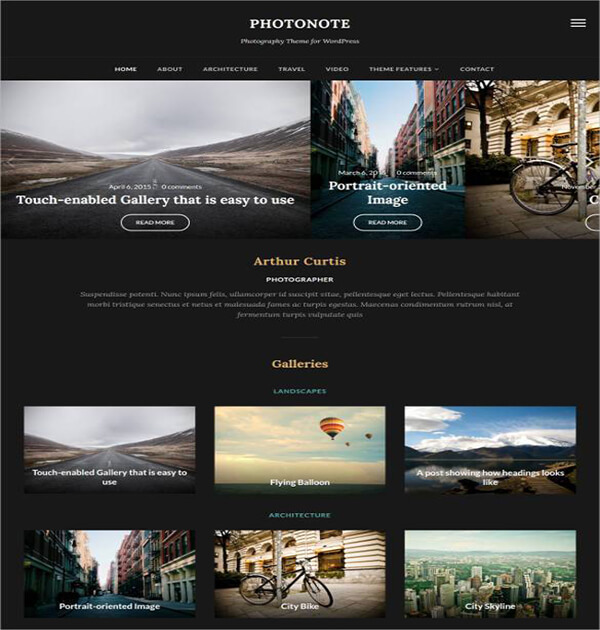 Stylish Responsive HTML5 Photography