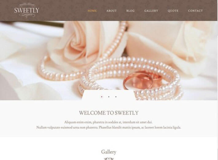 Sweetly HTML Wedding Website