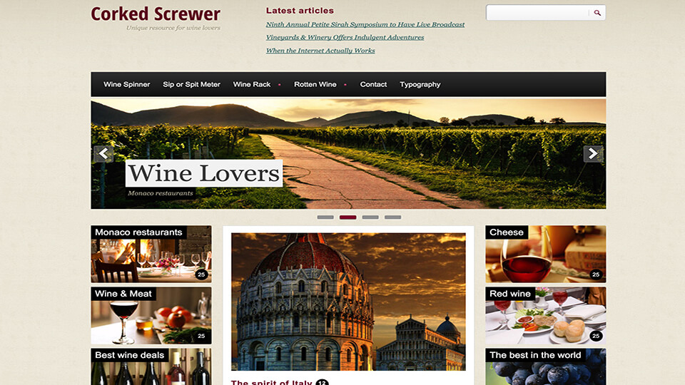 The Corked Best Responsive Drupal Template