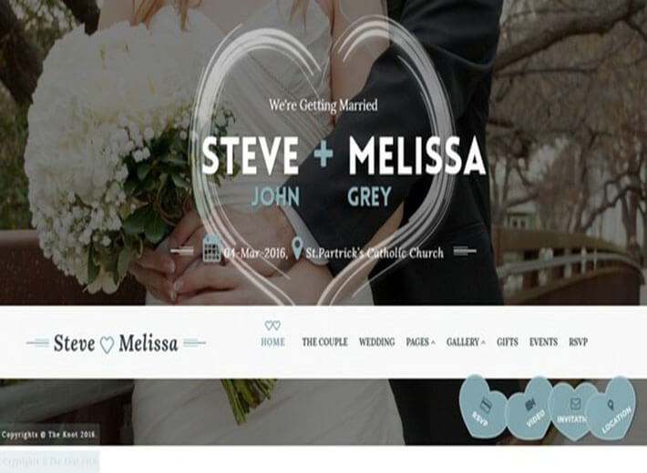 The Knot HTML Wedding