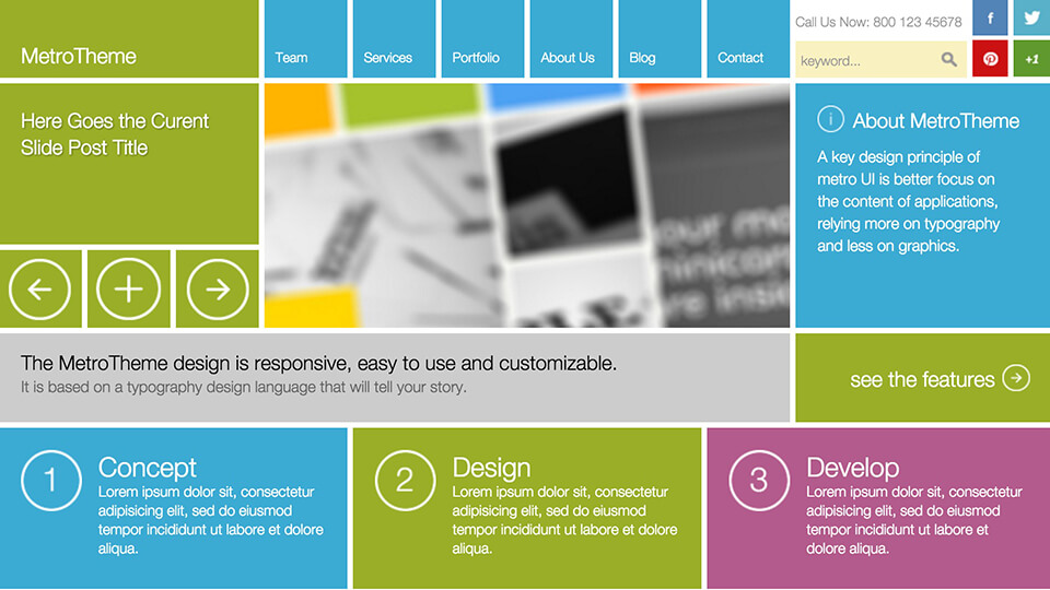 The Square Best Responsive Drupal Template